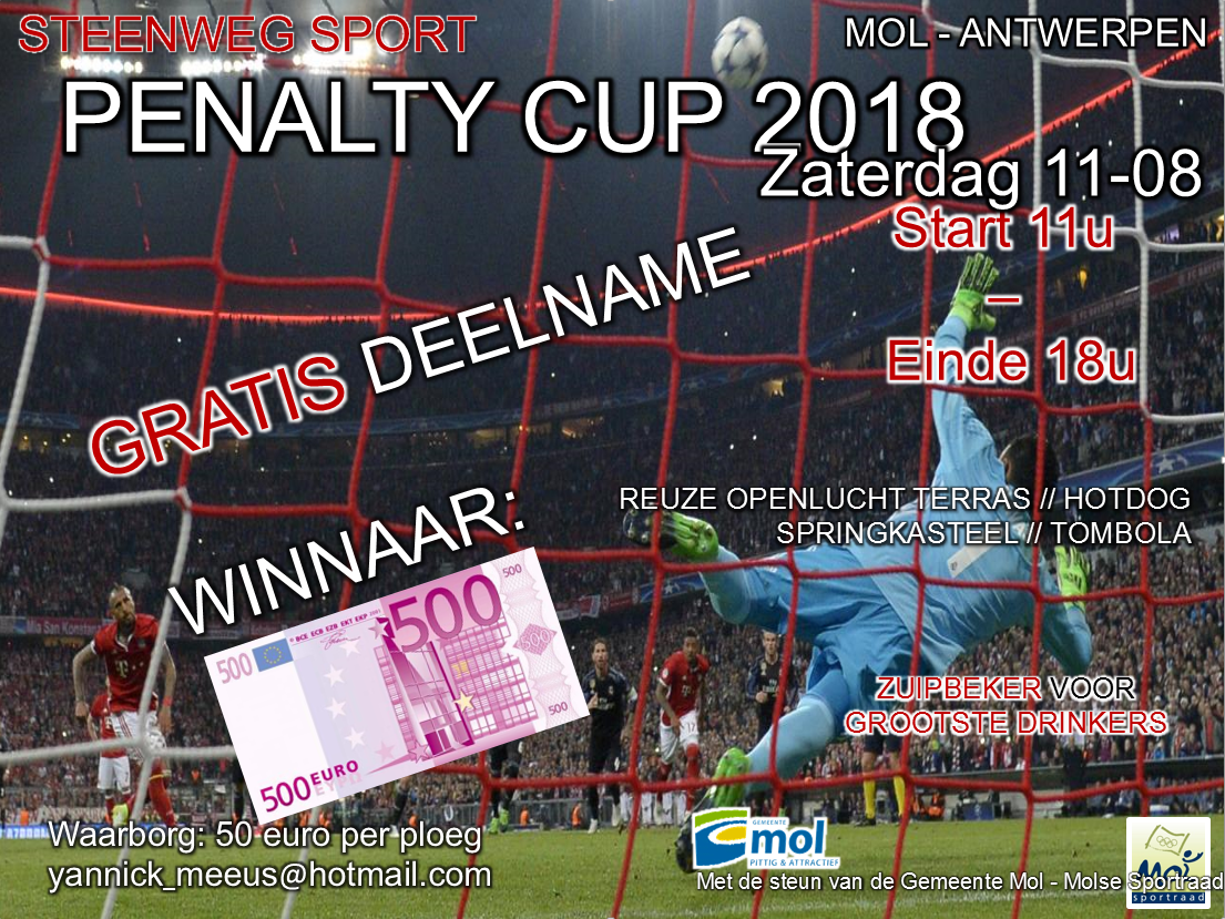 affiche steenweg penaltycup 2018